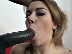 My Stepsister Gagging on Big Black Cock Gets Black Anal fuck