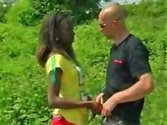 African Dilettante Fucked Outdoors