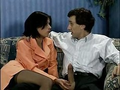 Excited French housewife always has more than enough time to service Steve Holmes� cock