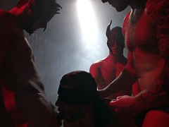 Gaysex orgy with naughty gay rituals