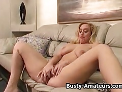 Cheri naked and mastubating her pussy on the couch.wmv