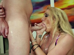 Deep Throat Of Horny Girl With Stockings