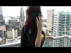 Batgirl gives a pantyhose footjob 1