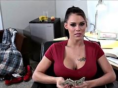 Crazy Big Tit Slut Invades the Dorms