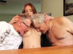 Babysitter threesome caught masterbating Minnie Manga eats b