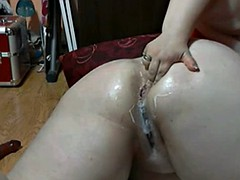 Nympho Fat BBW GF loves playing with her wet creamy pussy-1