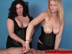 CBT masseuses Amber and Elaine dominating