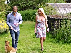 Blonde Wife Cheats with Black Guy Outside