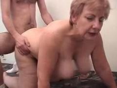 Obese Grandma Having Fun With A Male Prostitute