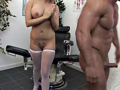 naughty nurse sucks cock for her patient treatment