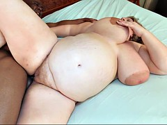 Pregnant BBW with giant tits and areolas