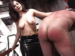 A couple of lusty playgirls have some kinky fun with a horny stud