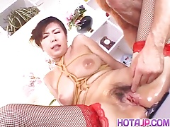 Marin Asaoka fucked in bondage style and creamed with