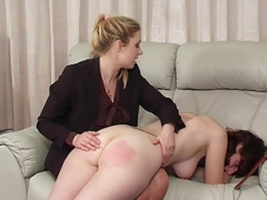 Totaly undressed for the spanking