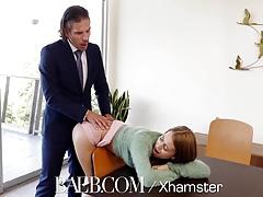 BAEB Brunette babe Jill Kassidy fucks for job in interview