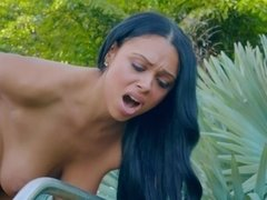 Awesome Latina lady gets owned in a beautiful deserted place