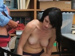 Alex  is a beautiful petite babe who was caught stealing
