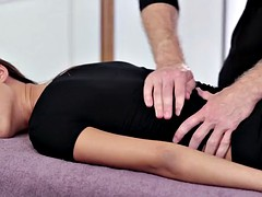 Hot sex on the table for massage