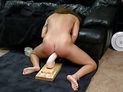 Hot Milf has intense orgasm on huge brutal dong