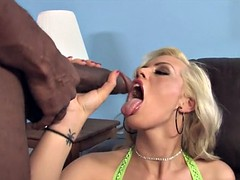Stupid blond wife suck and fuck BBC while hubby watch