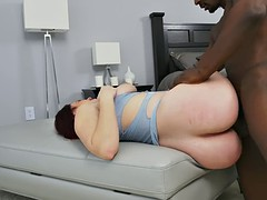 Bubble butt whore drilled by black cock