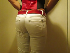 Slut in whute pants