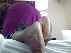 Ebony oily sole tease