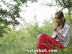 Natasha Back To Nature With Her Snatch