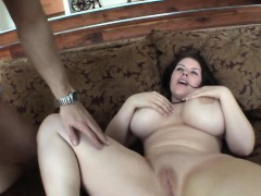 Girls HUGE tits jiggle about as she is fucked