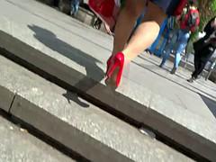 Mature Nyloned Legs on Street