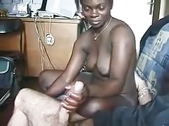 African Suck & Fucks Big White Cock
