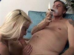 Mature Cigar Smoking Fella Bangs Mature Female (1-3)