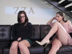 Lesbian takes charge and demands pleasure from a sweet girl