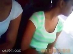 Sweet tourist chicks getting groped in Volvo bus