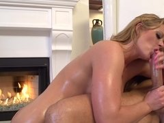 Holly Heart ass fucked by the fire by her big cock guy