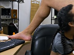 Cute girl pawns her pussy and slammed at the pawnshop