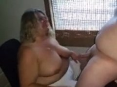 Amateur, Belle grosse femme bgf, Blonde, Sucer une bite, Branlette thaïlandaise
