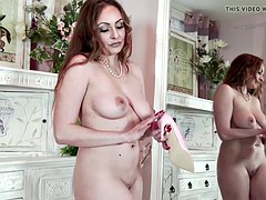 Hot Milf loves to be naked in just high heels wanking pussy