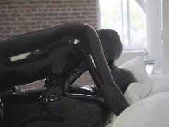 Hot pornstar latex and cumshot