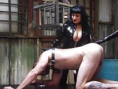 Bella Bathory and Mistress Sadista Brutal Strap-On Pommeling