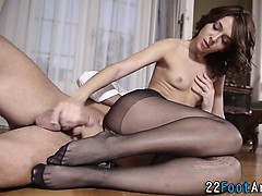 Foot fetish babe licked
