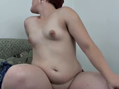 Chubby Redhead Stepdaughter Wakes Stepdad For Fuck