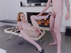 Pale babe fucked