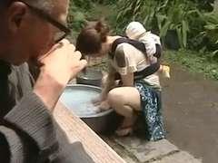 Chica, Corridas, Peludo, Japonés