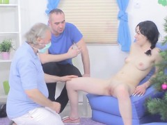Bf assists with hymen examination and nailing of virgin kitt