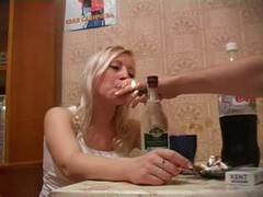 Very Drunk Russian Blonde Make love