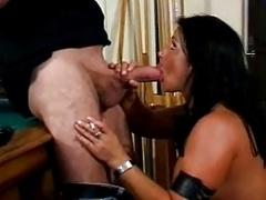 Classic Hot Brunette Cougar Smoking Sex