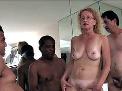 Enthousiasteling, Sperma, Groepseks, Interraciaal, Moeder die ik wil neuken