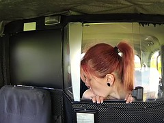 Redhead passenger screwed for some cash for a free fare