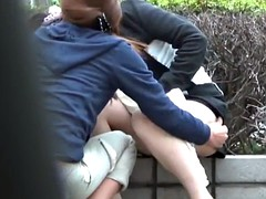 Japanese teen pee outside